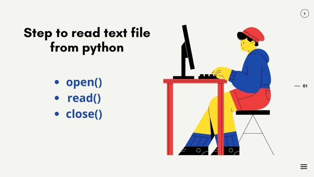 How to read a text file in python